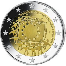 30 лет флагу Евросоюза 2 евро Германия 2015  Монетный двор на выбор (A,D,F,G,J)
