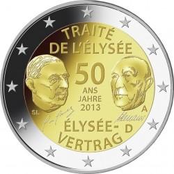 50 лет франко-германского договору о дружбе (Елисейский договор) 2 евро Германия 2013 F