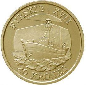 Плавучий маяк XVII Фурскиб 20 крон Дания 2009
