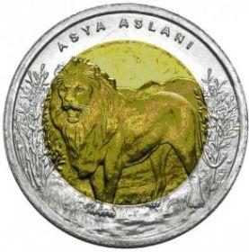 Лев  1 лира Турция 2013