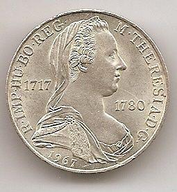 Императрица Мария Тереза 25 шиллингов Австрия 1967