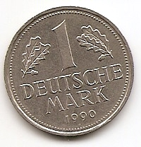 1 марка(Регулярный выпуск) ФРГ 1990