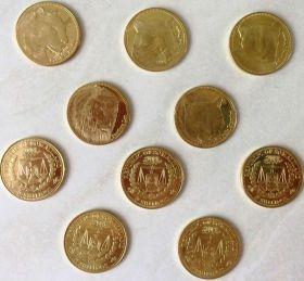 Фауна(Кошки) набор монет  5 шиллингов Сомалилэнд 2016 (5 монет)