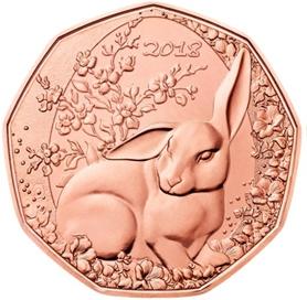 Пасхальный кролик  5 евро Австрия 2018